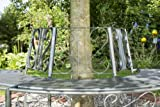 greemotion Baumbank Toulouse aus Metall – Gartenbank halbrund – Parkbank für den Garten – Baum-Rundbank wetterfest – Bank rund für Baumstamm - 3