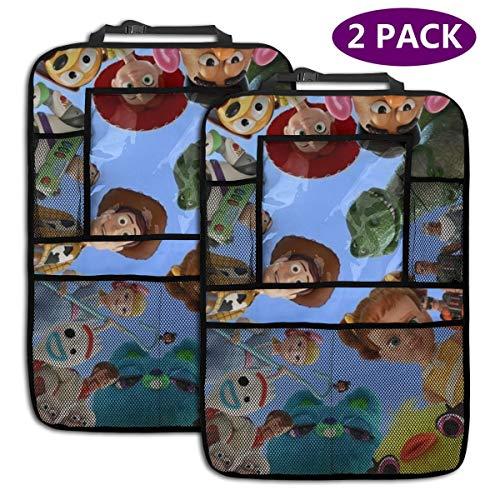 TBLHM Toy Story Lot de 2 Sacs de Rangement pour siège arrière de Voiture avec Support pour Tablette