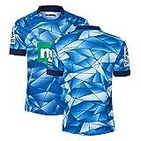 GWCASA Camiseta de Jerseys de Rugby de los Hombres, 2018-2020 Oakland Blues Rugby Jerseys, Ropa de Entrenamiento de Nueva Zelanda, Fan Sport T-Shirt 20 Home-S