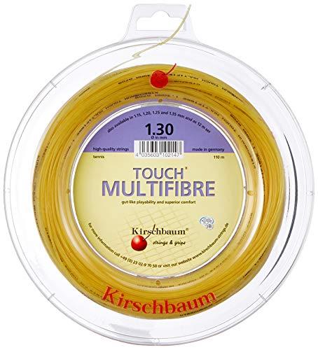 Kirschbaum Spule Touch MultiFiber Tennissaiten, Unisex, MF130-100, Natur, 1.30mm/16-Gauge