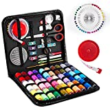 Sewing Kit Premium Sewing Thread with Needle and Thread Portable Sewing Kit with 126 Sewing Suppliers Accessories Tools for Adults, Traveler, Beginner, Emergency Repairs with Black Carrying Case