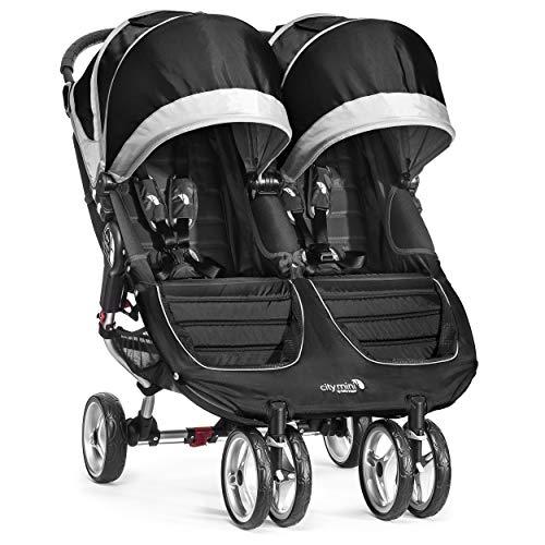 Baby Jogger City Mini Gemelar - Silla de paseo, color negro/gris