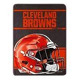 Northwest NFL Cleveland Browns 46x60 Micro Raschel Run Design Rolled Blanket, Team Colors, One Size (1NFL059050005RET)
