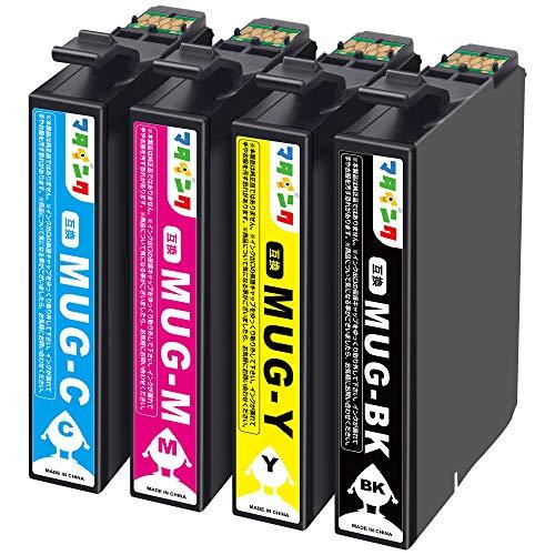 【マタインク】エプソン(Epson)対応 MUG-4CL マグカップ 互換インク MUG 4色セット インクカートリッジ Epson用 EW-452A EW-052A 互換インク 大容量 2年保証 個別包装 残量表示 増量