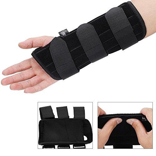 Handgelenkstütze, Handbandage, Atmungsaktive Handgelenk Klammer Handunterstützung Verstauchung Unterarm Handwurzelschienen Arthritis für Sport und Alltag (M(Rechts))
