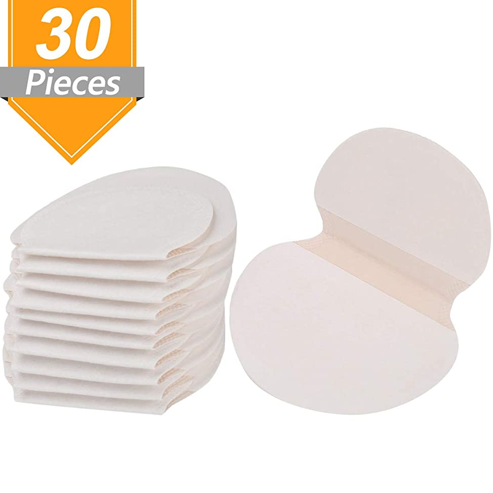 Onwon Antiperspirant Adhesive Underarm Pads - Individual Package Each Pair - Disposable Absorbent Underarm Sweat Pads Armpit Perspiration Pads Underarm Dress Shields for Adults Kids (30 Pieces)