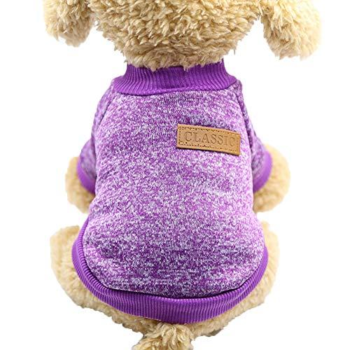 H87yC4ra Suéter De Lana Para Perro, Jersey, Chaqueta Para Gato, Abrigo, Ropa De Invierno Cálida Para Mascotas, Accesorios Para Mascotas, Accesorios Para Suministro De Trajes Para Mascotas Rosa S