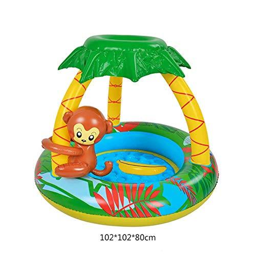 Kinderbad Pool, Opblaasbare Leuke Roze Kids Slide Floating Bed Fountain Zwembad Water Toys, for Kids, Peuters, Buiten, Tuin, Binnenplaats, De Zomer Water Party