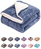 Fuzzy Dog Blanket or Cat Blanket or Pet Blanket, Warm and Soft, Plush Fleece Receiving Blankets for Dog Bed and Cat Bed , Couch, Sofa, Travel and Outdoor, Camping (Blanket (24' x 32'), DW-Smoked Blue)