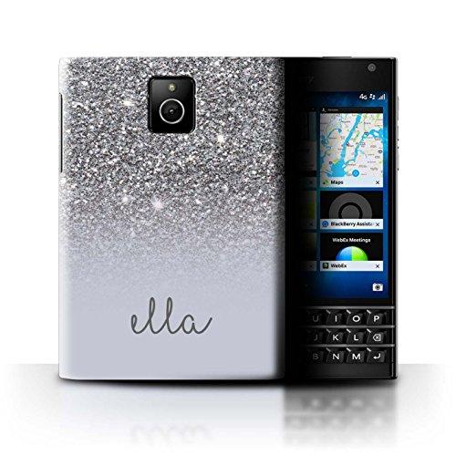 Personalisiert Hülle Für BlackBerry Passport Individuell Glitter Effekt Silber- Design Transparent Ultra Dünn Klar Hart Schutz Handyhülle Case