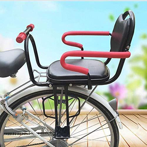 Kinderfahrradsitz, Fahrrad-Sicherheits-Sitz Kinder-Fahrrad-hinterer Sitz Fahrrad Kinder Sicherheit Sattel Kindersitz mit Rückenlehne Kinderrücksitz-Sicherheitssitz for 2-6 Jahre alte Baby- kinderfahrr