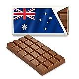 12 kleine Tafeln Schokolade - Fanartikel Süßigkeiten - Große Auswahl Länder, Nationen, Fahnen - Vollmilch (Australien)