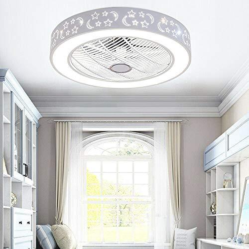 Ventilador de techo con luz LED, 40 W, regulable, 58 x 20 cm, con moderno mando a distancia