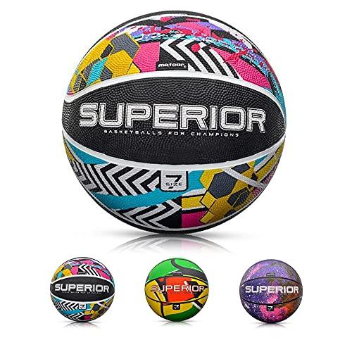meteor® Dribble Kinder Mini Basketball Größe #7 ideal auf die Jugend Basketball für Ausbildung weicher Basketball mit griffiger Oberfläche