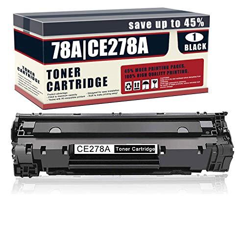 1 Pack 78A | CE278A Compatible CE278AK Toner Cartridge Replacement for HP 78A Toner Laserjet Pro P1606dn P1606 P1566 P1560 M1536dnf MFP M1537dnf MFP M1538dnf MFP M1530 MFP Printer Toner Cartridge
