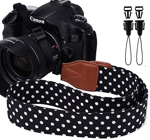 Baisy Correa de Hombro Cuello de Camara Suave Durable Cinturš®n Universal Correa de la camara para DSLR Nikon Canon Sony Panasonic.