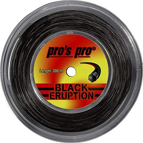 Spro Pro's PRO Black Eruption Corda per Racchetta da Tennis - 200m Bobina - 1.30mm - Nero