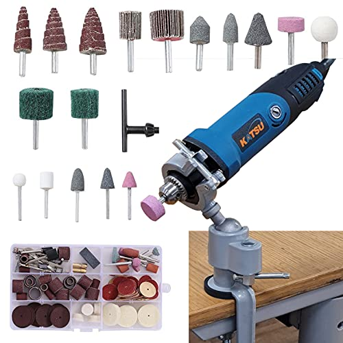 KATSU 400W Electric Die Grinder, Grinding Polishing Hobby Make with 123PCs Accessories, 6mm Chuck Collet