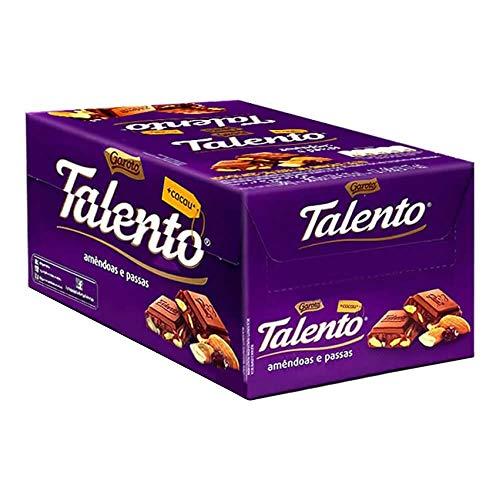 Tablete Talento Roxo Amêndoas 90g c/12 - Garoto