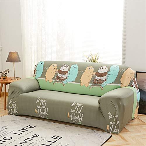 kengbi Funda de sofá elástica duradera y fácil de limpiar, para sala de estar, antideslizante, elástica, funda de sofá, funda de sofá, funda de licra universal floral