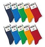 10 Paar Socken von Mat und Vic's für Sie & Ihn - Cotton classic bequem ohne drückende Naht - angenehmer Komfort-B& - OEKO-TEX Standard 100 (39-42, Fun Colors) 39-42