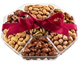 Holiday Nuts Gift Basket - Fresh Sweet & Salty Dry Roasted Gourmet Nuts Gift Basket - Food Gift Basket for Christmas, Thanksgiving, Fathers Day, Mothers Day, Sympathy, Family, Men & Women
