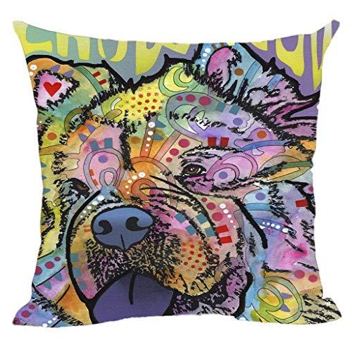 Lovely Animals Chow Chow Fundas de Almohada, Art Pet Funda de Almohada para Perros Personalizar lienzos de Regalo, para Asiento de sofá de Coche (18 X18 Pulgada)