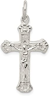 925 Sterling Silver Crucifix Cross Religious Pendant Charm Necklace Fine Jewelry Gifts For Women For Her