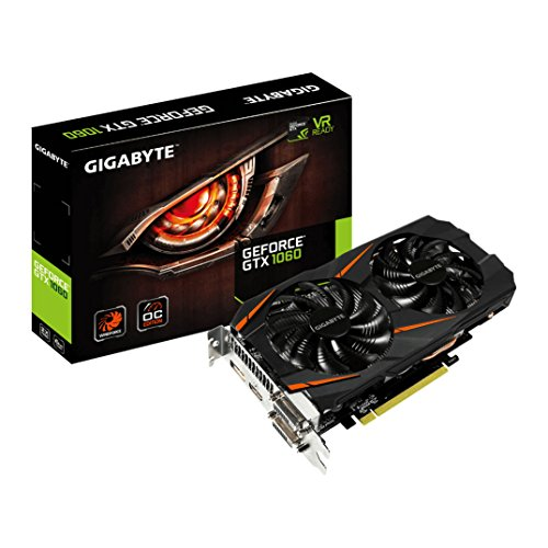 Gigabyte GeForce GTX 1060 - Tarjeta gráfica Windforce2 OC 6GB (1280 Core, 1556 MHz GPU, 1771 MHz Boost), color negro