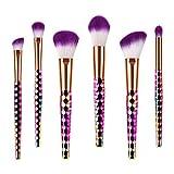 Juego de 6 pinceles de maquillaje profesional con diseño de nido de abeja, para base de maquillaje, colorete, sombra de ojos, estompador, cosmético