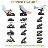 KKTECT Verstellbare Fußstütze, mit herausnehmbarem, weichem Fußpolster, maximale Traglast 54,4 kg (mit Massageperlen), 4-stufige Höhenverstellung, für Auto, unter dem Schreibtisch, zu Hause, im Zug