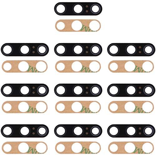 Xiaomi Ersatz 10 PCS Zurück Camera Lens & Kleber for Xiaomi Mi 9 SE Xiaomi Ersatz (Farbe : Black)