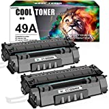 Cool Toner Compatible Toner Cartridge Replacement for HP 49A Q5949A 49X Q5949X 53A Q7553A HP Laserjet 1320 1320n P2015 P2015dn P2014 3390 1160 P2015d 1320tn M2727nf Toner Cartridge ink (Black, 2-Pack)