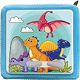 K002 | Schutzcover Schutzfolie für Toniebox selbstklebende passgenaue Folie Motive Zubehör für Kinder Spielzeug Aufkleber Sticker Personalisiert Wunschname (Nr. 19 Dinosaurier, ohne Wunschname)