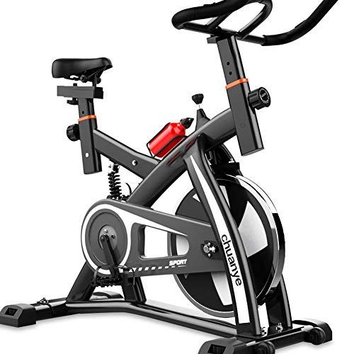 Indoor Cycling Heimtrainer, Studio Cycles Heimtrainer Cardio Workout Leises stationäres Spinbike, Verstellbarer Sitzlenker mit beweglichem Rad, maximale Tragfähigkeit 100 kg