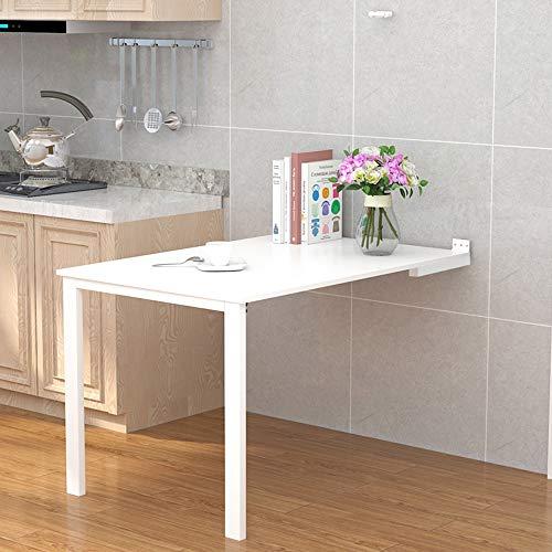 Koovin Wandklapptisch, klappbarer Küchentisch, klappbarer Computertisch, 6 Größen, Esstisch, Schreibtisch