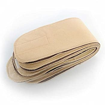 EZwhelp Reusable Belly Band for Dogs - Male and Female Dog Washable Diaper Wraps - 8 Pack  Large Tan