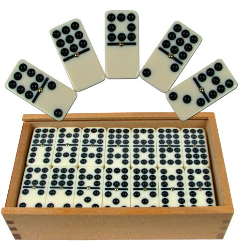 Our #2 Pick is the Hey! Play! Double Nine Set of Dominoes