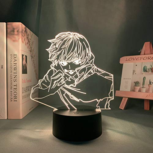 Lámpara de anime Toge Inumaki Light Jujutsu Kaisen Luz de noche LED para regalo de cumpleaños Jujutsu Kaisen Luz de noche Toge Inumaki Lámpara, 7 colores sin control remoto