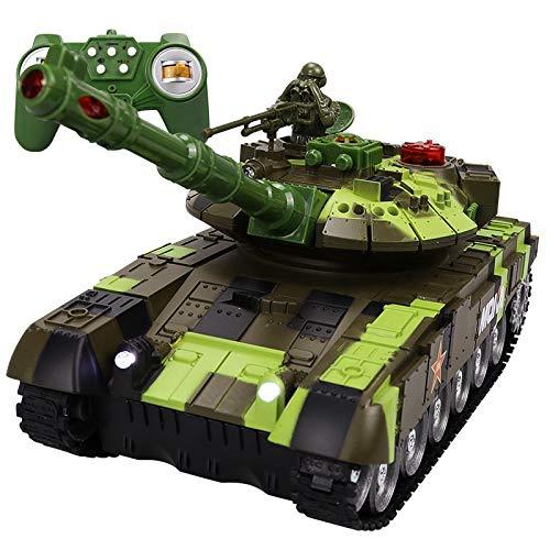Lommer RC Panzer, Ferngesteuerter Panzerspielzeug 2.4G 59D Militärpanzer mit Ton Licht Effekt, Ferngesteuertes Autospielzeug für Kinder Erwachsene