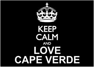 Idakoos Keep Calm and Love Cape Verde - Paises - Pack De Pegatinas X4