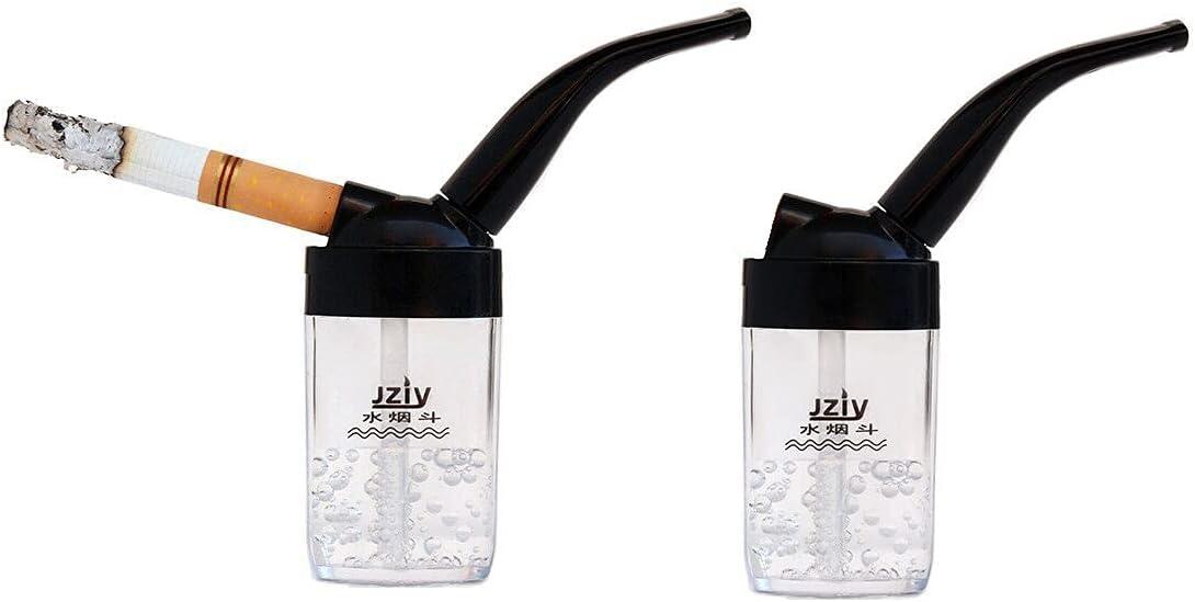 Pipa para fumar con cigarrillo, Filtro de agua, Mini Cachimba pequeña (2)