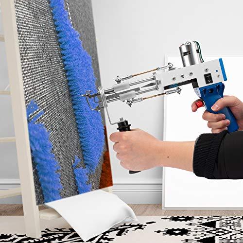 TOPQSC pistola eléctrica para tejer alfombras 5-40 puntadas / seg ajustable tufting alfombra maquina 4-14 mm pistola de mechones de máquina de tejer eléctrica alfombras