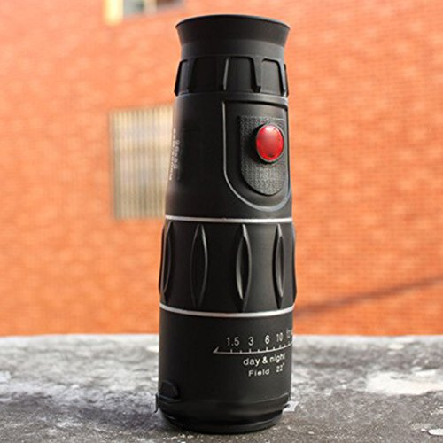 EDTara 26x52 Monocular High Definition Waterproof Telescope for Outdoor Sport Hunting Camping Night Vision Black