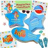 Cepewa 3X Magisches Handtuch Nemo Fische Meeresbewohner Waschlappen 30cm Kinder Mitgebsel