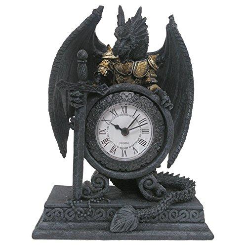 Puckator Drache in Rüstung Clock - Dragon Figuren und STATUEN