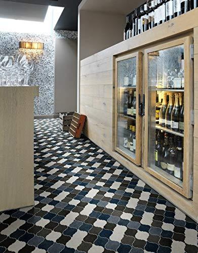 PVC Bodenbelag orientalischem Design,anthra (6,45€/m²), Zuschnitt (2m breit, 1,5m lang)