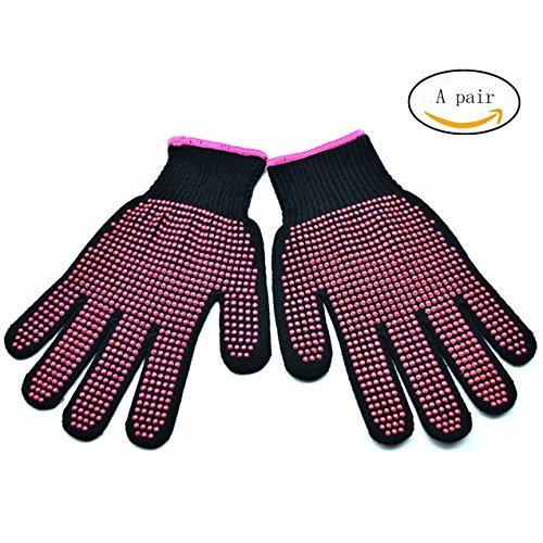 AF-WAN Multifunctionele Dubbelzijdige Hittebestendige antisliphandschoenen voor het stylen van haar, krultang, handbeschermer Warmteblokkerende handschoenen voor het krullen 1 paar