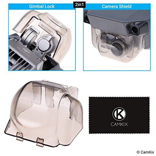 CAMKIX 2in1 Gimbal-Sperre und Kamerablende Kompatibel mit DJI Mavic Pro / Platinum - Sperrt die Gimbalposition - Schützt die Kamera vor Stößen - Wichtiges Drohnen-Schutz-Set - Schützt teure Teile