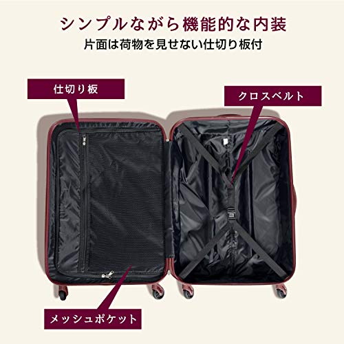M型ライトグリーン×ココア/ABS7352(tilt)Sotoico(ソトイコ)TSAロック搭載スーツケースキャリーバッグ中型(3~5日用)
